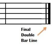 Double Bar Line
