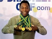 Pele with his medals