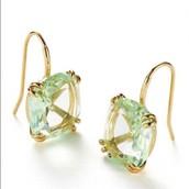 Cushion Drop Earrings- Mint