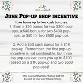 Cash Bonus for pop-up shops