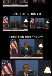 Búsqueda de vídeos y vista de alta resolución