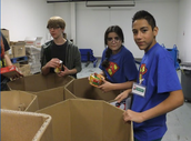 Davis, Denise, and Jose Rock the Food Bank