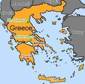 This is a map of Greece.