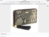 Snakeskin wallet was $118 now $45