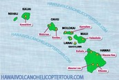 Hawaiian islands and their volcanoes