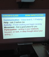 Class Created Work Expectations for Writers' Workshop