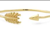 Gilded Arrow Bangle- gold