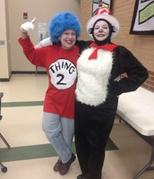 The Cat in the Hat and Thing 2 came to visit!