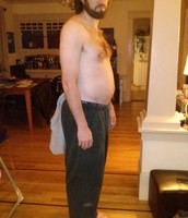 NO, Jon is not sticking his stomach out! It was just there for awhile. ;)