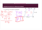 Finding Values of Parallelograms