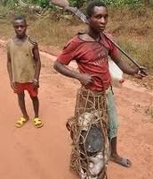 Bantu Man in Possession of Bushmeat