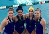1st in 200 Free Relay