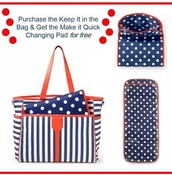 Free Quick Changing Pad with each Keep it in the Bag
