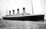 Titanic leaving Southampton.