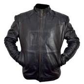 chaqueta negro cuero