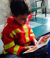 Nathan during reading groups