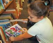 Finding a book using a shelf marker