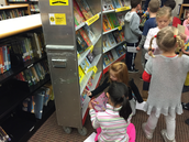 """Kindergarteners finding their favorite picture book """"friends!"""""""