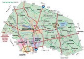 Map Of Williamson County, TX