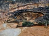 Peru Rain Forest After Mining