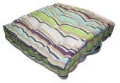 Cotton Green Stripes Floor Cushion