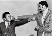 Wilt Chamberlain with Muhammad Ali