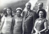 Lyndon B. Johnson his wife and kids