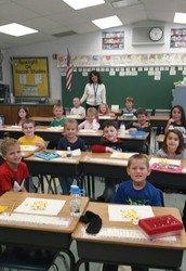 Mrs. Cariola's class earns a popcorn party