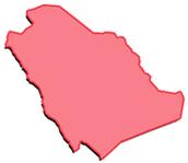 Saudi Arabia's  Location