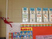 Fritz was mischievous with our number line!