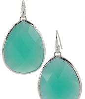 Serenity Stone Earrings Aqua