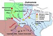 Map of the Jumano territory