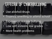 can cause teens to go to the only thing that can help them no thing about what they are saying about them.