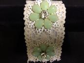 Floral & Lace Bracelet