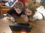 2nd graders coding