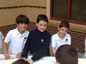 Jack, Zachary and Nathan loved making pita on Yom Haatzmaut!