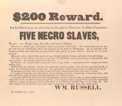 A wanted poster for Harriet Tubman