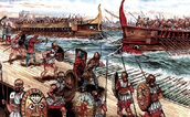 A Drawing of a Sparta Sailing to Attack Athens