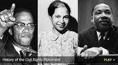 Malcolm X, Rosa Parks, Martin Luther King Jr.
