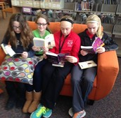 Students love to read on the new couches!