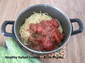 Milestone Inspired Tomato Sphaghetti