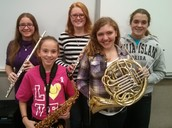 PCMS STUDENT MUSICIANS PERFORMED WITH ALL-REGIONS HONOR BAND
