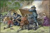 Nathaniel firing at Berkeley's men.