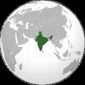 תמונה זאת מראה איפה הודו ממוקמת על כדור הארץ.