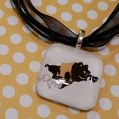 Hog on ribbon necklace