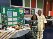 Students Representing at Multicultural Night