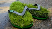 grassy shoes