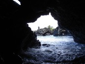 Wai'anapanapa Beach from Inside a Cave