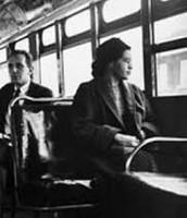 Rosa en su autobús