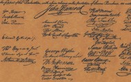 John Adam's Signature from the Declaration of Independence.